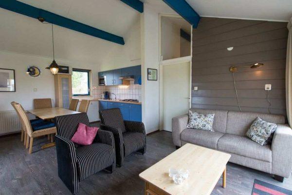 Bornrif Cottage Deluxe 4 - Nederland - Waddeneilanden - 4 personen - woonkamer