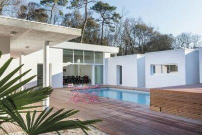 Maison d'architecte piscine et jacuzzi - Loire - Longeville sur mer - 8 personen