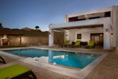 Lachania Villa with Pr. Pool & Jacuzzi - Zuid-Egeïsche Eilanden - Lachania - 6 personen