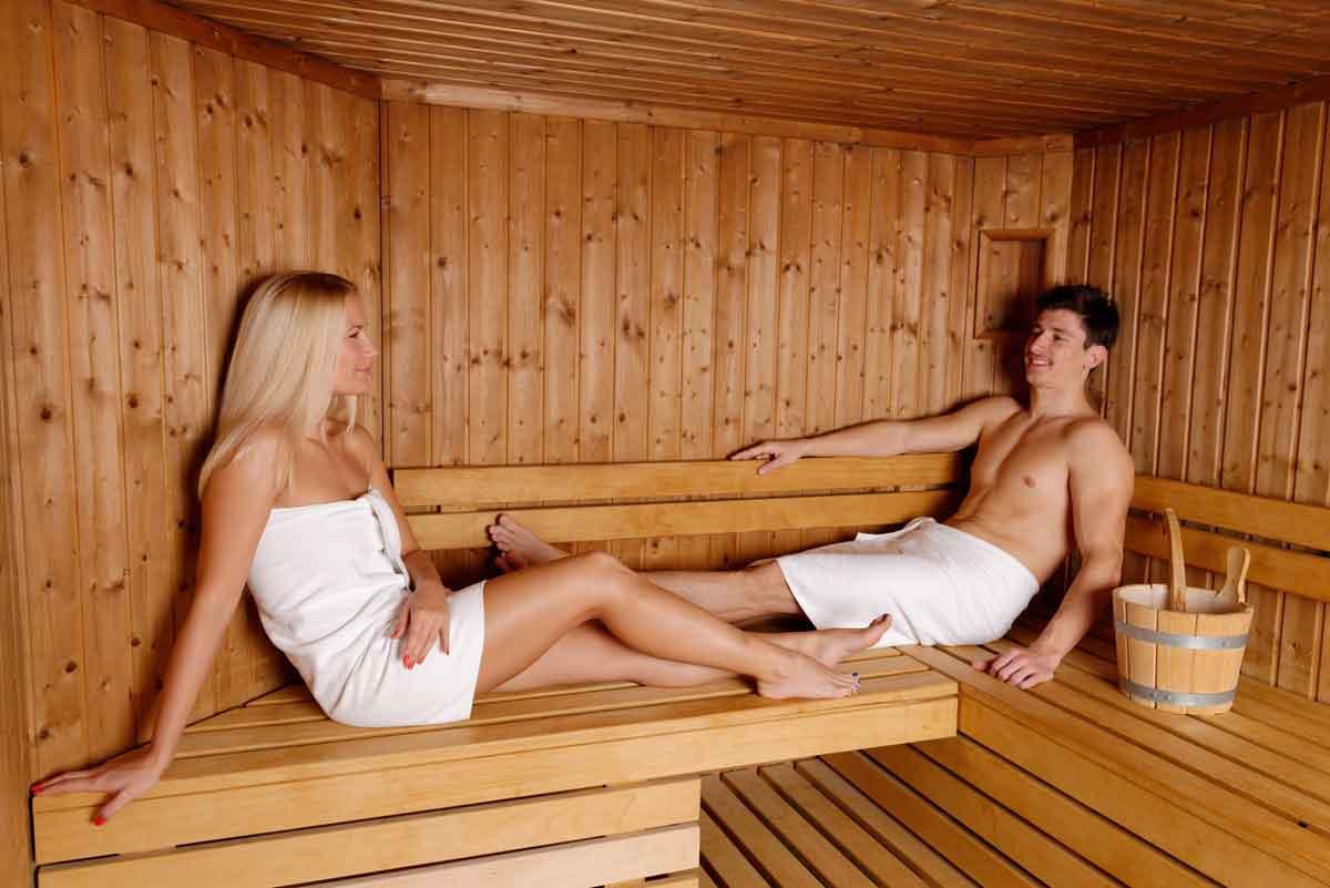 wellness huisje met sauna aan zee